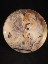 First Encounter Tiger Cub and Butterfly by Glen Loates Franklin Mint plate - $4.94