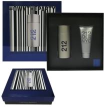 212 Men Carolina Herrera 2 Pieces Set 3.4oz Edt Spray + 3.4 Oz After Shave Gel - $67.95