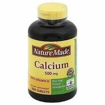 Nature Made HUGE BOTTLE CALCIUM 500mg +D3 300 Tablets VALUE SIZE 5 Month... - $16.99
