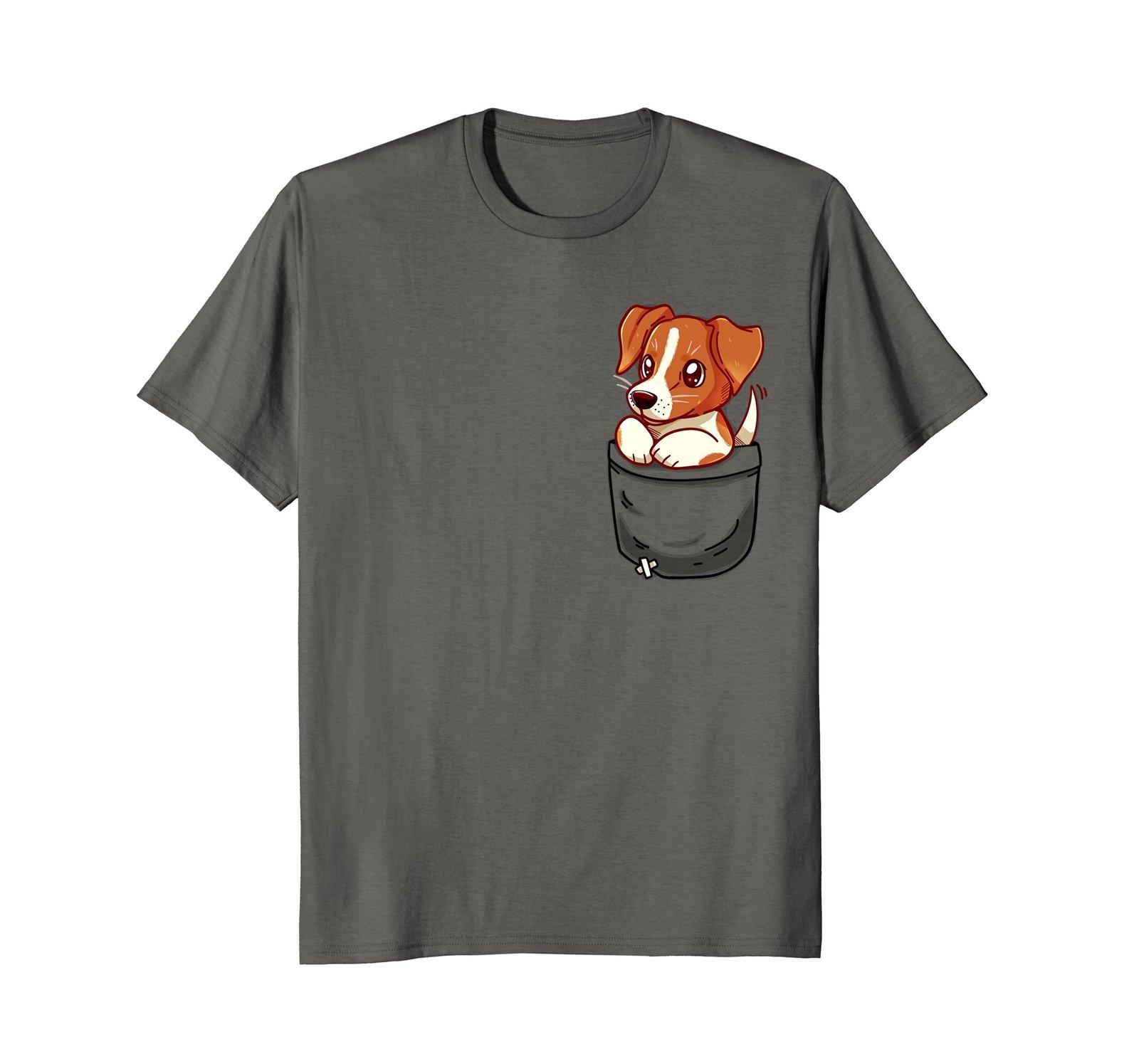 Pocket Cute Jack Russell Terrier - T-Shirt