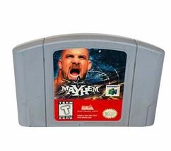 Mayhem Wrestling Goldberg Nintendo 64 Video Game vtg cartridge only WWF 1997 WCW - $19.75