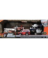 Road Rippers RUSH & RESCUE EMERGENCY VEHICLES Set w LIGHTS & SOUNDS & 5 Vehicles - $139.99