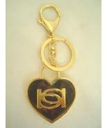 New BEBE in Gold Tortoise Logo Heart Key Fob  Great Birthday Valentine Gift - $21.99