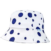 Sun-Resistant Cotton Dark Blue Dots Comfortable Ventilate Baby Cap Infant Hat image 1