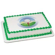 Golf Ball On Tee Edible Cake Topper Image - 1/2 sheet - $17.50