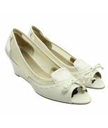 Circa Joan & David WINTON Womens Size 11 White Mesh Peep Toe Wedge Heels - $21.52