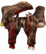 Halloween Severed Hands Feet Set Scary Bloody Broken Body Parts Props De... - $30.16
