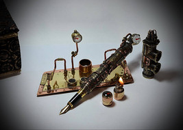 "Steampunk fountain pen ""Steam PEN "" "" V3.1 , without Fire, ...but with a... - $319.00"