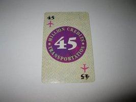 1986 Power Barons Board Game Piece: $45 Million Credits Transportation card - $1.00