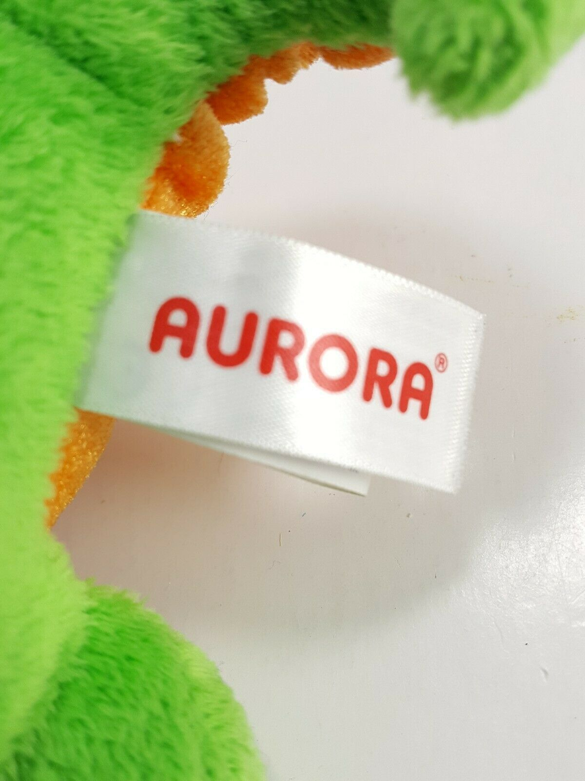 "Aurora World Plush 7"" Green Orange Dragon Legendary Friends Dragon with sound image 5"