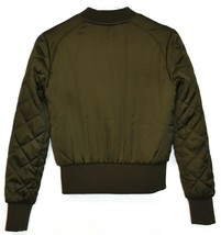 Divided by H&M Women's Army Green Zip Up Puffer Bomber Jacket Size 2 image 2