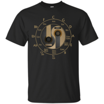 Guitar Circle of Fifths Special G200 Black Cotton T-Shirt - $21.00+