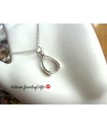Sterling silver wishbone necklace small wishbone n thumbtall