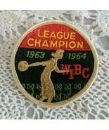 Vintage Women's Lady Bowling Patch League Champion WIBC 1963- 1964 - $7.71