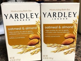 Oatmeal & Almond Moisturizing Bath Bar by YARDLEY LONDON  -  - 2 Bars - $13.14