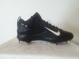 New Nike Trout 3 Pro Sz 8.5 Black White 856498 010 Mid Force Zoom Metal ... - $42.52