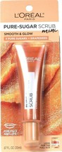 1 L'Oreal Paris 0.67oz Smooth & Glow 3 Pure Sugars Grapeseed Face Lip Sc... - $14.99
