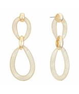 Liz Claiborne Women's Gold Wire Mesh Drop Earrings Gold Tone New - $17.81