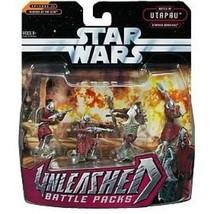 2005 STAR WARS. UNLEASHED BATTLE PACKS. 4 UTAPAUN WARRIORS - $19.79