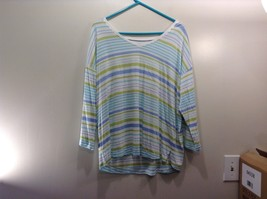 J. Jill Multicolor Striped Long Sleeve Blouse Sz P/L - $39.99