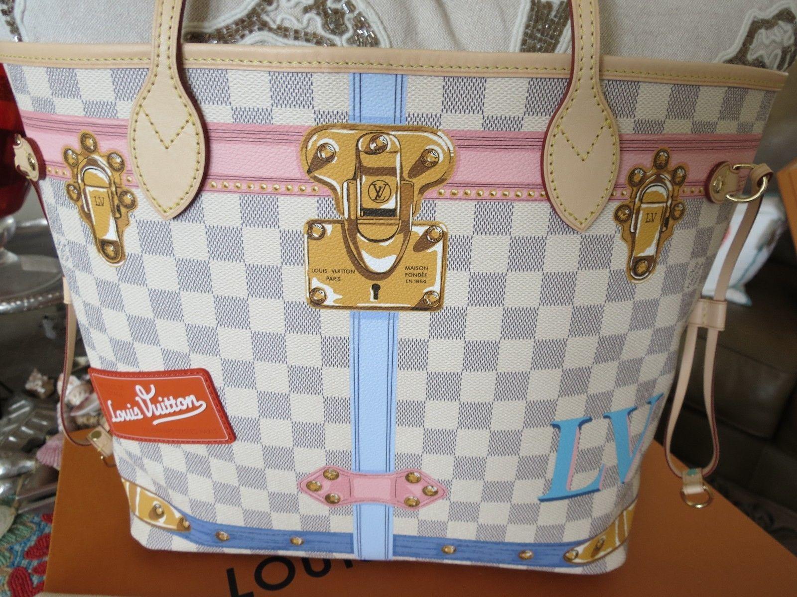 S l1600. S l1600. Louis Vuitton Neverfull Summer Trunk MM Damier Azur NWT  Authentic Limited · Louis Vuitton ... cf4a90e8b6d5e