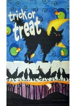 Black Cat Halloween Garden Flag - 12.5 x 18 inches - $9.99