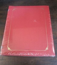 Creative Memories 8x10 Red Album Gold Foil 15 two sided White Pages OPEN... - $26.43