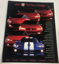 "1997 ""The New Dodge"" Car Auto Sales Brochure - $36.94"
