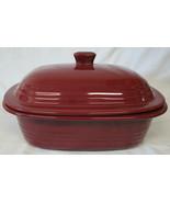 Pampered Chef Stoneware 1134 Oval Cranberry Casserole 3.1 Quart - $64.24