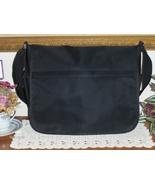 Emporio Armani Black Nylon Messenger Bag Unisex Crossbody Tote Brief Case - £65.21 GBP
