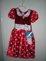 Nwt Disney Store Minnie Mouse Halloween Costume Sz 2 - 3 - $19.80