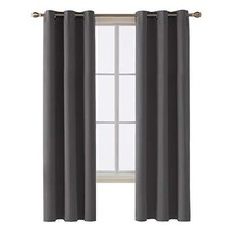 Deconovo Room Darkening Thermal Insulated Blackout Grommet Window Curtai... - $17.33