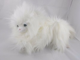 "Dakin Soft Classics White Cat Plush 8"" Tall 1986 Stuffed Animal - $18.06"