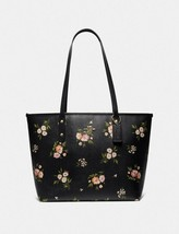 Coach City Zip Tote in Canvas Tossed Daisy Print Black - $148.50