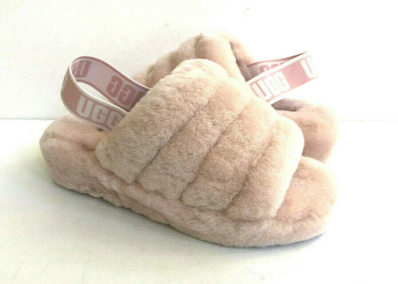 Primary image for UGG FLUFF YEAH SLIDE QUARTZ MOCASSIN SLIP ON SANDAL US 10 / EU 41 / UK 8