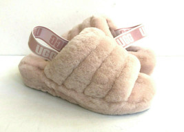 UGG FLUFF YEAH SLIDE QUARTZ MOCASSIN SLIP ON SANDAL US 10 / EU 41 / UK 8 - $107.53
