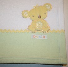 Carters Child of Mine KOALA BEAR CUTIE Baby Blanket Green White Yellow F... - $15.45