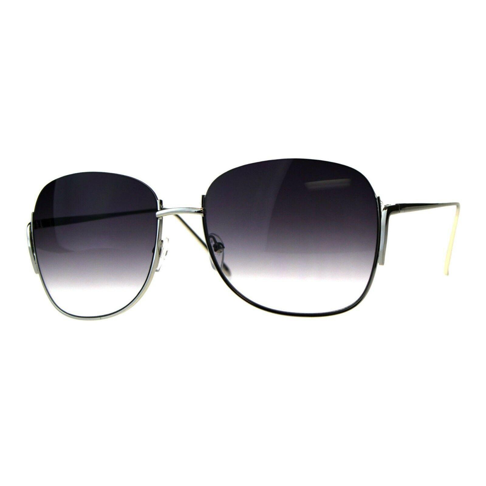 Designer Fashion Sunglasses Womens Half Rim Open Top Ombre Lens