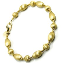 Bracelet Yellow Gold 18K 750, Rigid, Ovals and Spheres Alternating and S... - $768.54
