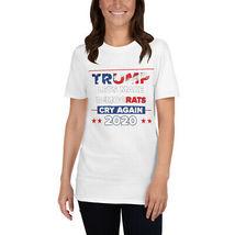 Lets Democrats Cry again Short-Sleeve Unisex T-Shirt Trump 2020 image 4