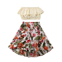 Fashion Summer Toddler Kids Baby Girls Outfits Floral Clothes Short Tops... - $10.93+