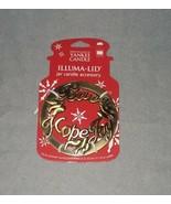 Yankee Candle Illumina Lid Jar Accessory Peace Hope Joy Christmas Holiday - $19.79