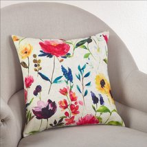 Fennco Styles 18-inch Watercolor Floral Down Filled Throw Pillow, 3 Designs - $29.69