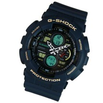 Casio Analog-Digital Blue Resin G-Shock Men's Shock Resistant GA-140-2AD... - $118.79