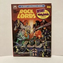 1986 Tonka Rock Lords Giant Coloring Book Unused Golden Books GoBots - $5.99