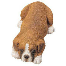 Sandicast Sculpture: Small Size Snoozer Boxer UC, Fawn (SZ044) - $14.24