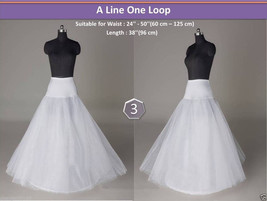 Hot new wedding bridal 1 Hoop A-Line wedding dress petticoat white Crino... - $20.99