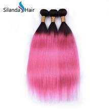 Silanda Hair 3 Bundles #1B/Rose Straight  Remy Human Hair Extensions Weft - $132.90+