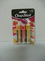 CHAPSTICK 3 STICKS peaches&cream strawberries&cream bananas&cream NEW - $14.24