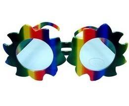 1 RAINBOW SUN PARTY SUNGLASS adult pride colorful summer men women gay p... - £6.26 GBP